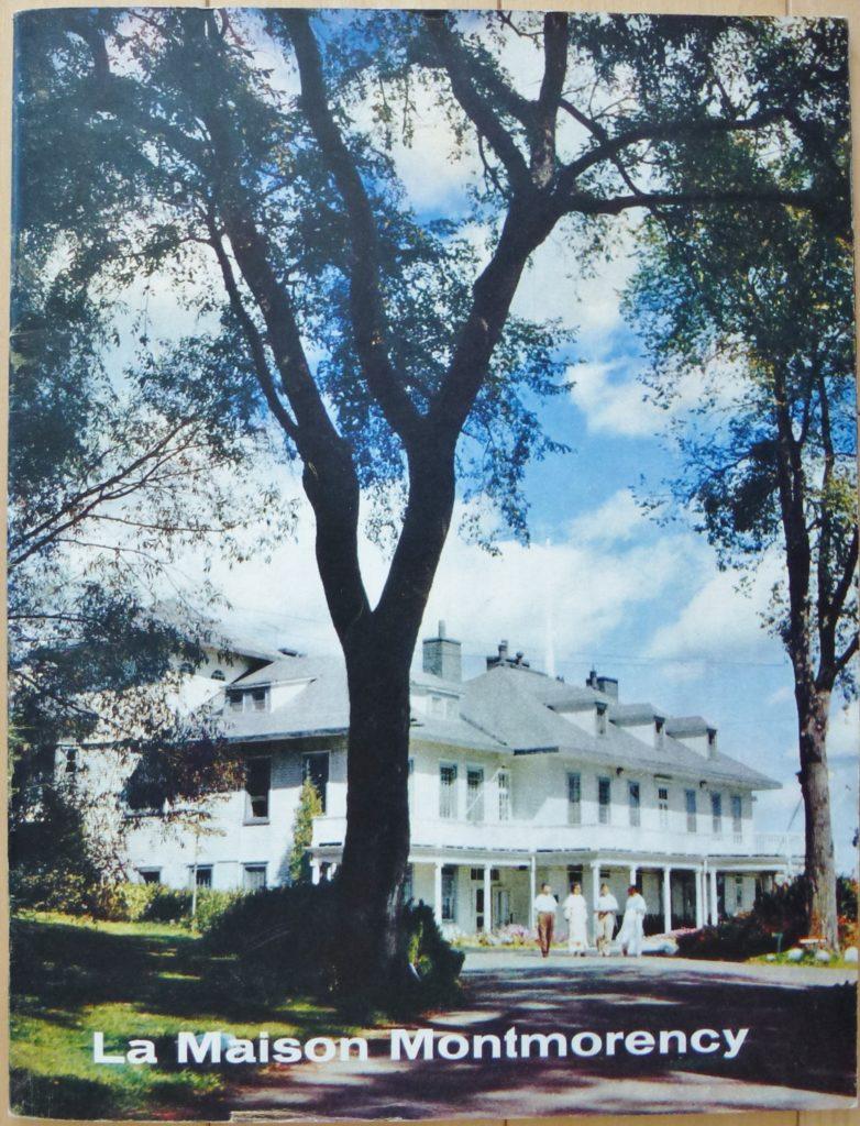 Couverture d'une brochure à propos de la Maison Montmorency publiée en 1960 par les Pères Dominicains, qui étaient alors propriétaires de la résidence et du domaine.