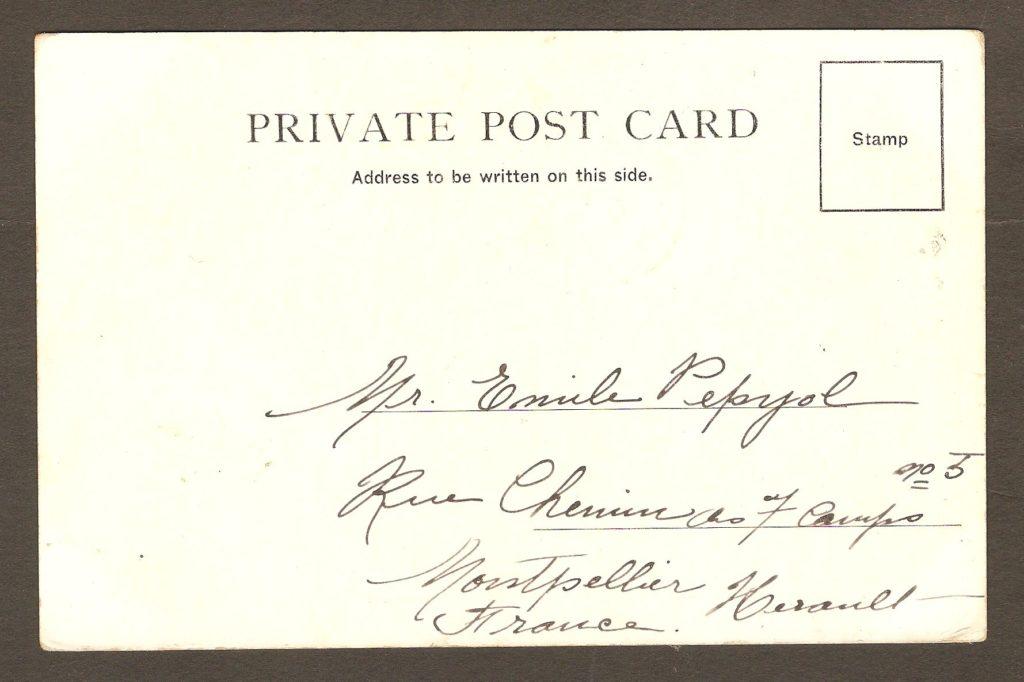Photo de Notman a été utilisée pour illustrer cette autre carte à dos non divisée, postée de Montréal le 6 juillet 1908.