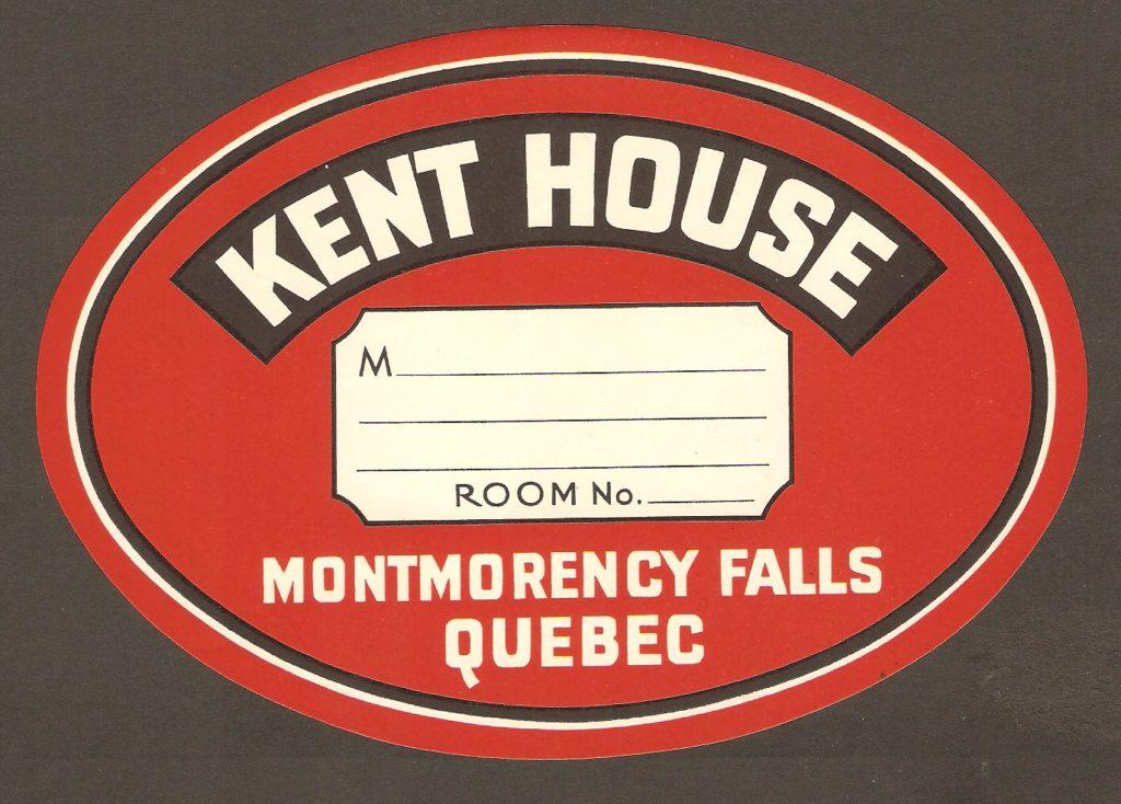 Belle étiquette de bagage, de grand format, en usage vers 1930 à l'hôtel Kent House.