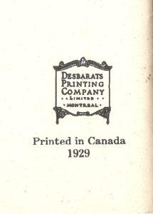 Chute Montmorency : une brochure publicitaire de l'hôtel Kent House, en 1929. Cachet de l'imprimeur.