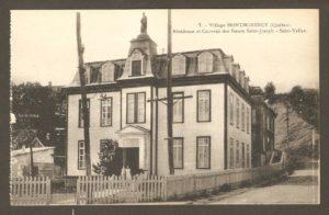 Résidence et couvent des Sœurs Saint-Joseph - Saint-Vallier dans un album de cartes postales présentant diverses scènes du village de Montmorency, publié en 1929 pa E. Alexandre Masselotte.