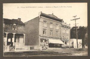Résidence et boulangerie de M. Ulric Vachon dans un album de cartes postales présentant diverses scènes du village de Montmorency, publié en 1929 pa E. Alexandre Masselotte.