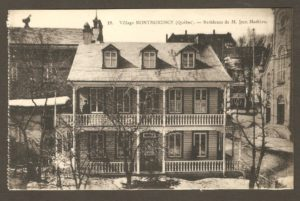 Résidence de M. Jean Mathieu dans un album de cartes postales présentant diverses scènes du village de Montmorency, publié en 1929 pa E. Alexandre Masselotte.