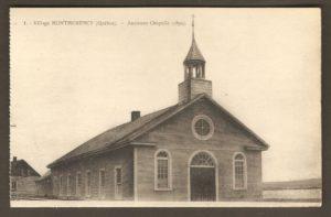 Ancienne chapelle dans un album de cartes postales présentant diverses scènes du village de Montmorency, publié en 1929 pa E. Alexandre Masselotte.