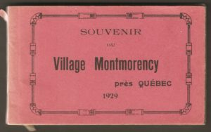 Couverture d'un album de cartes postales présentant diverses scènes du village de Montmorency, publié en 1929 pa E. Alexandre Masselotte.