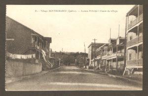 Avenue Pelletier à l'ouest de Montmorency, dans un album de cartes postales présentant diverses scènes du village de Montmorency, publié en 1929 pa E. Alexandre Masselotte.