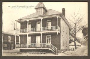Résidence de M. Charles Mathieu dans un album de cartes postales présentant diverses scènes du village de Montmorency, publié en 1929 pa E. Alexandre Masselotte.