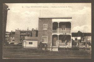 Résidence du docteur H. Talbot dans un album de cartes postales présentant diverses scènes du village de Montmorency, publié en 1929 pa E. Alexandre Masselotte.