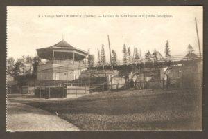 La gare du Kent House et le jardin zoologique Holt Renfrew dans un album de cartes postales présentant diverses scènes du village de Montmorency, publié en 1929 pa E. Alexandre Masselotte.