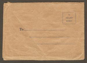 Cet ensemble de 10 mini-photos était consacré au site de la chute Montmorency. Il a été publié par S. J. Hayward, de Montréal, autour de 1920-1925, pour la Canada Railways News Co. et la Canada Steamships Line. L'ensemble se vendait 25¢ et les mêmes photographies pouvaient être utilisées également sur des cartes postales du même éditeur. Ci-dessus, on voit le recto et le verso de l'enveloppe.
