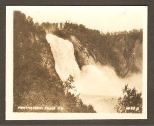 Montmorency Falls PQ. La chute Montmorency.