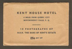 Une seconde enveloppe de mini-photos, consacrée au site de la chute Montmorency, également publiée par S. J. Hayward, sans doute un peu plus récemment (probablement vers 1930), étant donné l'amélioration de la qualité photographique.