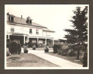 Une vue partielle de la façade de l'hôtel Kent House.