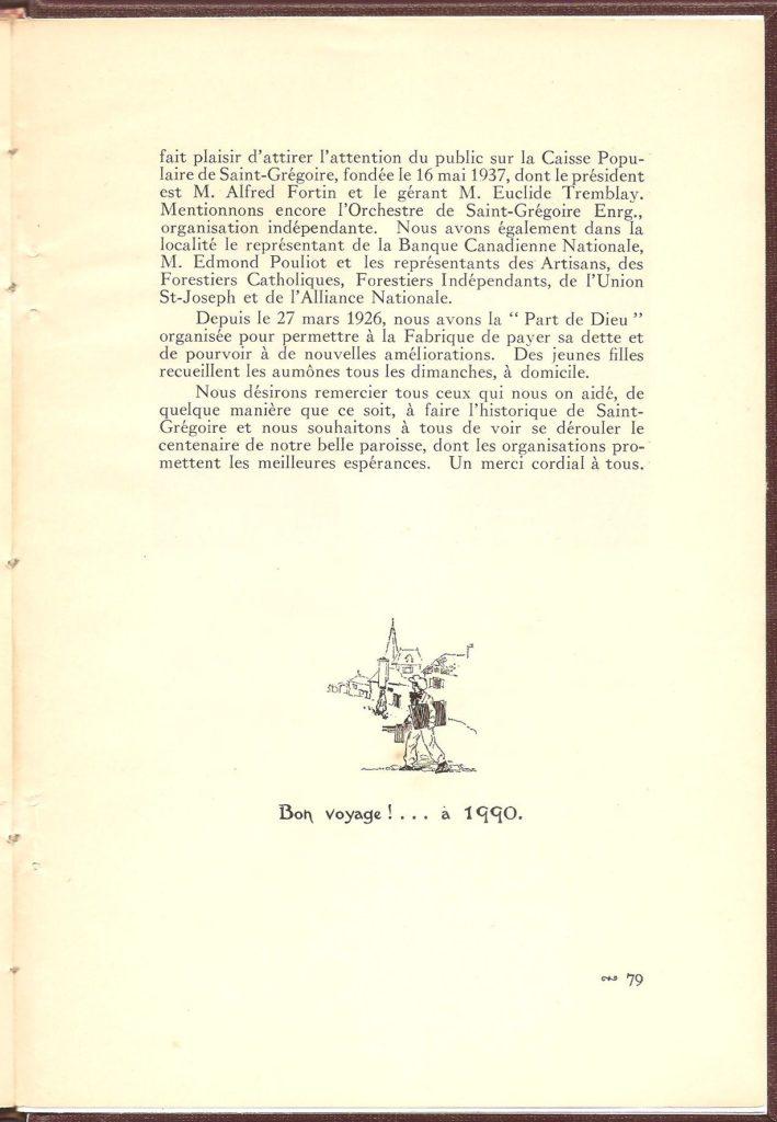 Livre de 80 pages pour célébrer le cinquantenaire de ville Montmorency, rédigé par M. Georges Bhérer et publié en 1940.