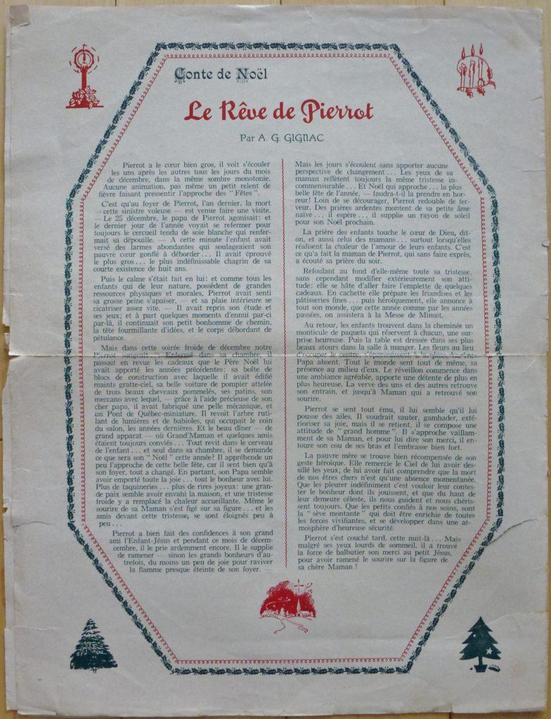 Le journal Le Moulin au pied des chutes, de la succursale de Montmorency de la compagnie Dominion Textile. Cette fois-ci il s'agit ici du numéro 12, volume XII, c'est-à-dire celui de décembre 1953.
