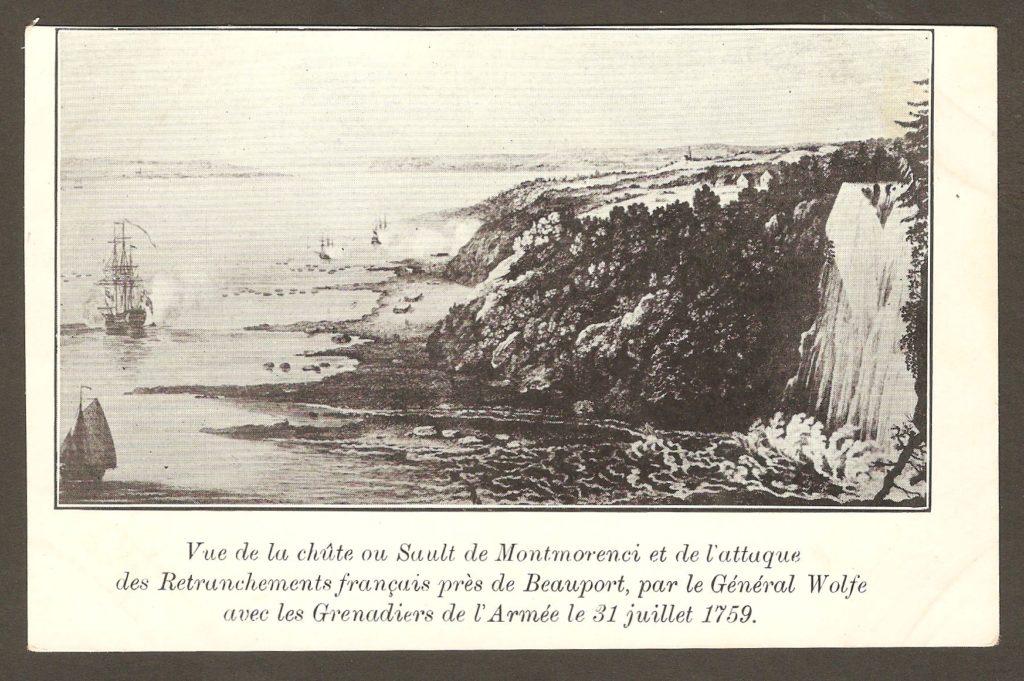 Une autre carte postale publiée vers 1908 et elle aussi illustrée de la gravure de Hervey Smyth. Par ailleurs, cette fois-ci, la légende indique qu'il est bien question de la bataille de Montmorency.