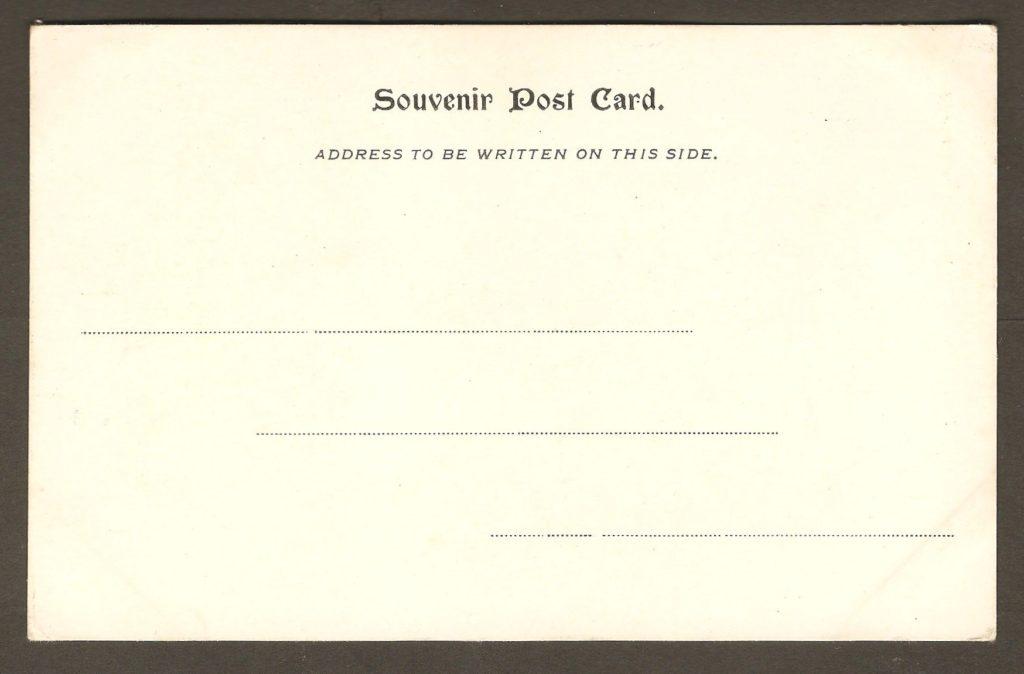 Les marches naturelles sur une carte postale à dos non divisé datant vraisemblablement d'autour de 1905 et publiée par un éditeur non identifié.