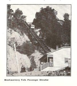 Le funiculaire menant à l'hôtel Kent House et au parc de la chute Montmorency.