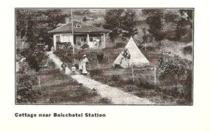 Une villa à proximité de la station de Boischatel. Elle se trouve aujourd'hui à l'est du pied de la côte de Boischatel.
