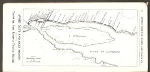 Le tracé de la ligne de la Division Montmorency de la Q.R.L.&P. vers 1925.
