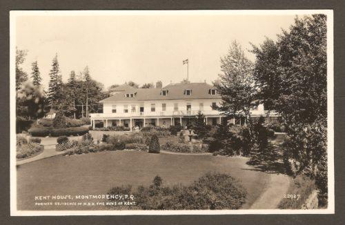 L'hôtel Kent House et son jardin en façade sur une carte postale Hayward.