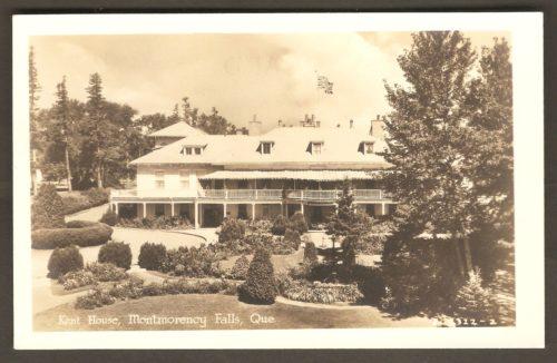 Carte postale Associated Screen News Limited, publiée vers 1920-1930, montrant la façade de l'hôtel Kent House.