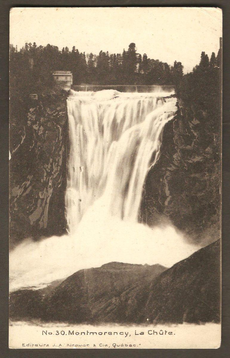 Une carte postale de J. A. Kirouac & Cie, Québec, postée de Montréal, en 1910.