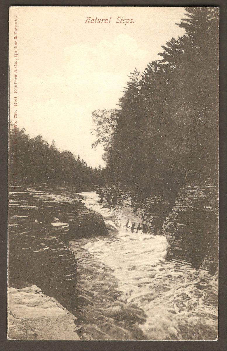 Les marches naturelle, sur une carte de la collection Imperial Series de Hartmann, produite pour la Holt, Renfrew & Co.