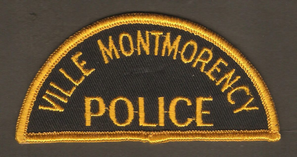 Insigne d'épaule de policier de Montmorency, datant probablement des années 1950.