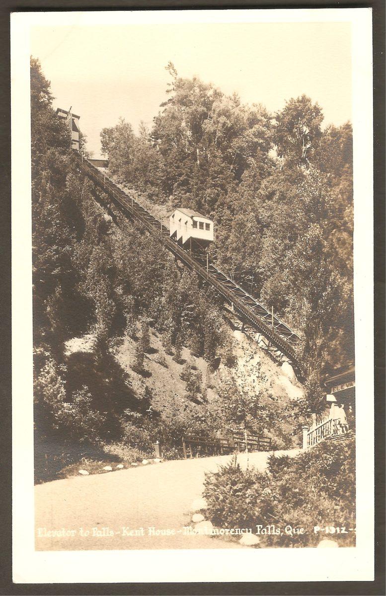 Le funiculaire du site de la chute Montmorency.