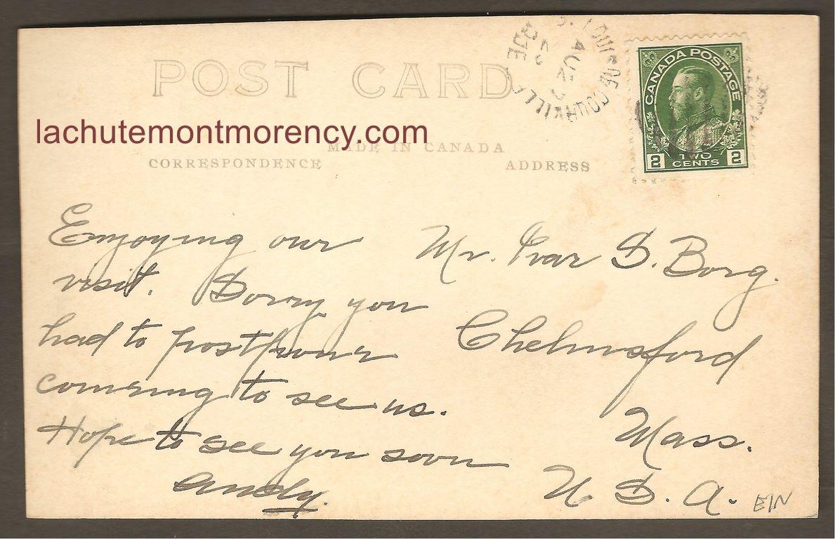L'endos de la carte postale permet de constater qu'elle a été postée de Saint-Louis-de-Courville, le 27 août 1923.