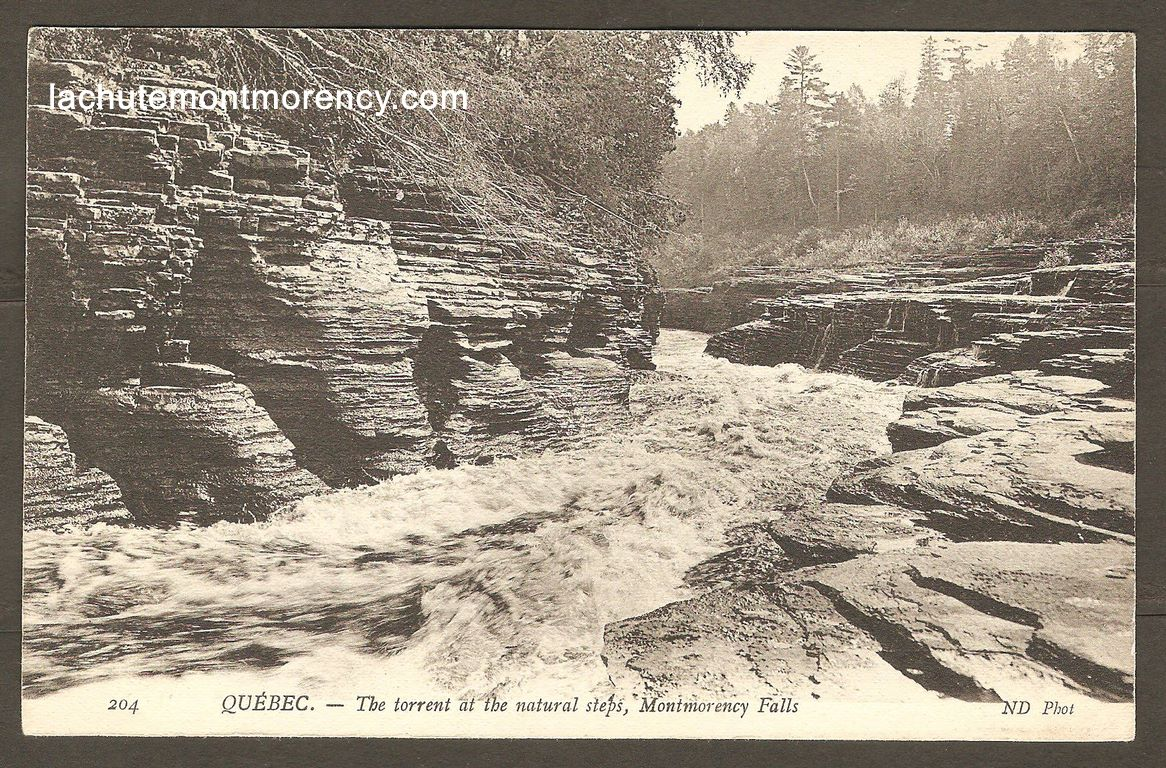 Carte postale Neurdein ND 204: Québec - The torrent at the naturals steps, Montmorency Falls.