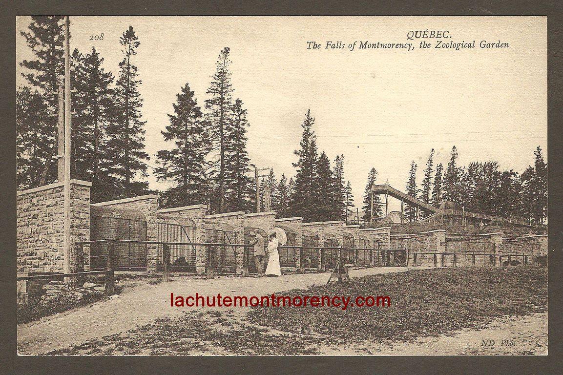 Carte Neurdein ND 208: Québec - Les Chutes de Montmorency, une Cage du Jardin Zoologique Holt Renfrew.