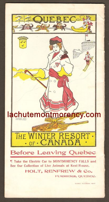 Endos d'une brochure publicitaire publiée par la compagnie Holt Renfrew, aux environs de 1910.