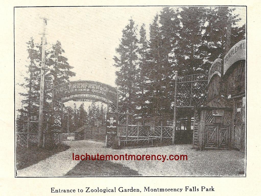 Photo de l'entrée du zoo Holt Renfrew, à la chute Montmorency.