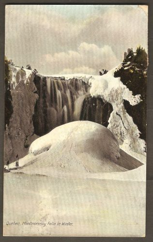 Carte postale avec cachet du 24 juillet 1908, de Montmorency Falls