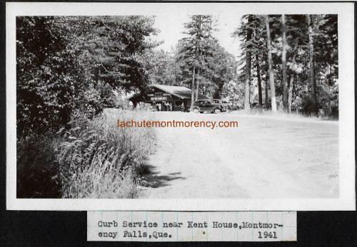 Curb service near Kent House Hotel, at Montmorency Falls, 1941.   Service à l'auto près de l'hôtel Kent House, à la chute Montmorency, en 1941.